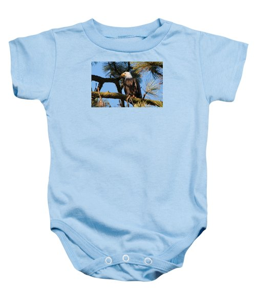 Bald Eagle Perch Baby Onesie