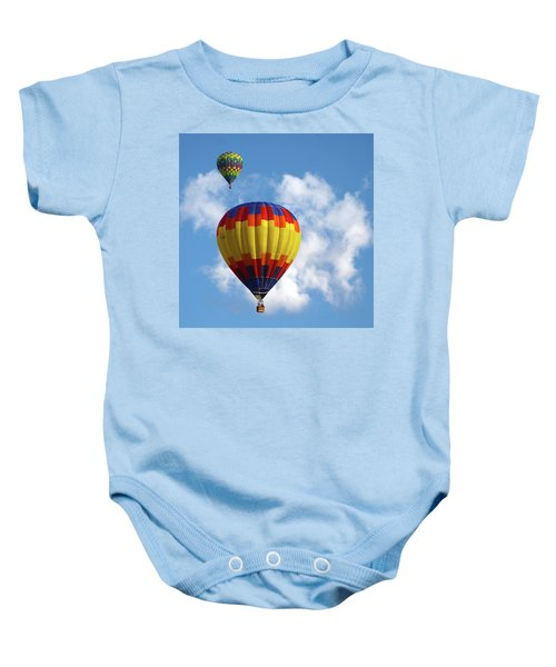 Balloons In The Cloud Baby Onesie