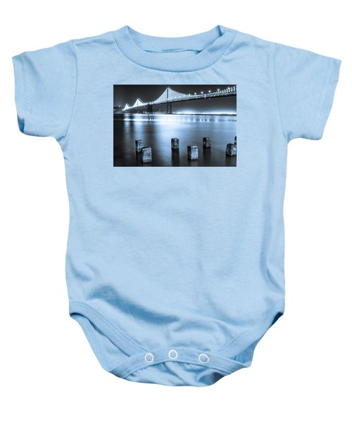 Bay Bridge 1 In Blue Baby Onesie