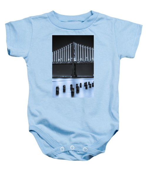 Bay Bridge 2 In Blue Baby Onesie