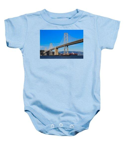 Bay Bridge With Apl Houston Baby Onesie