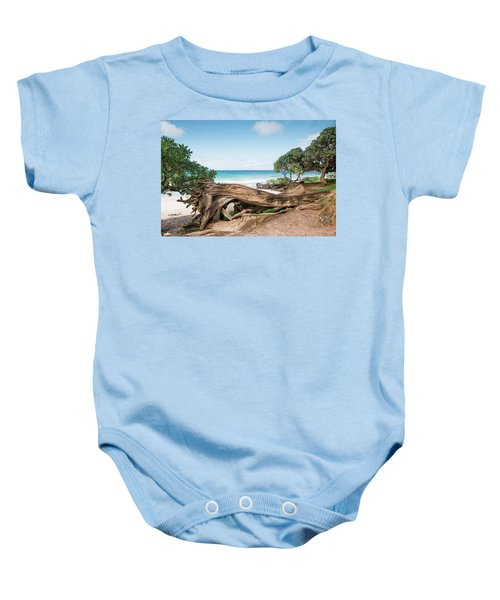 Beach Camping Baby Onesie