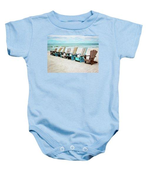 Beach Chairs Baby Onesie