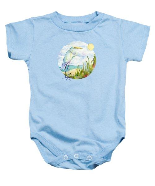 Beach Heron Baby Onesie