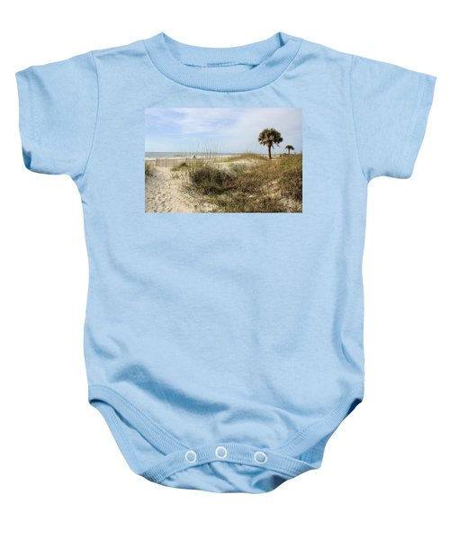 Beach Path Baby Onesie