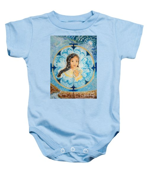 Flying Lamb Productions.        Beads Of Life Baby Onesie