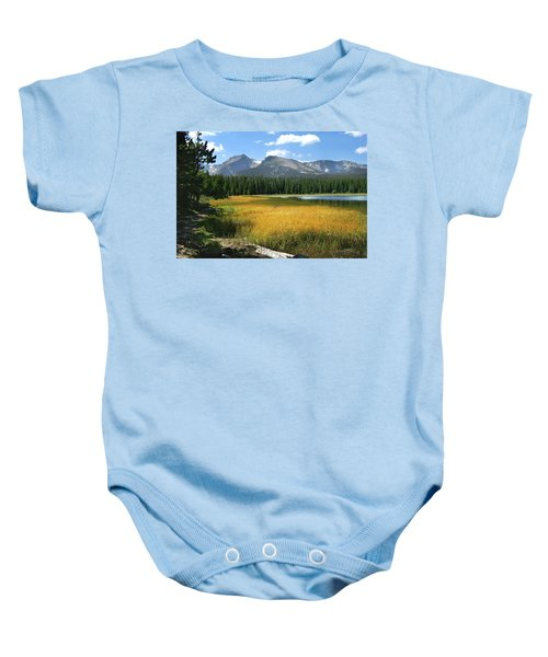 Autumn At Bierstadt Lake Baby Onesie by David Chandler