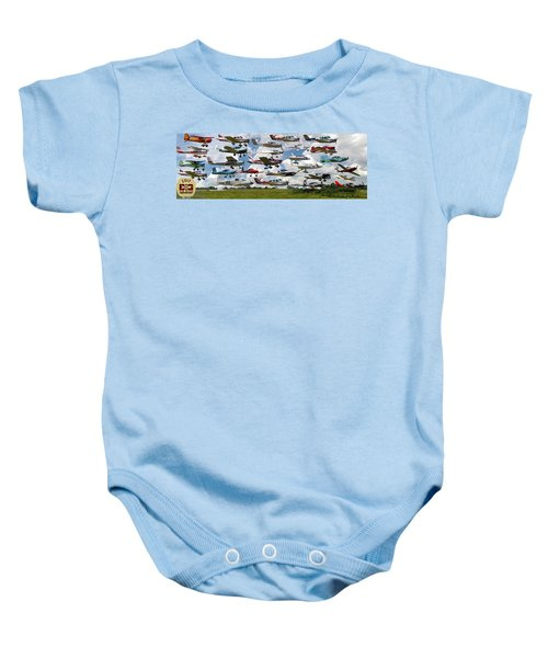 Big Muddy Fly-by Collage Baby Onesie