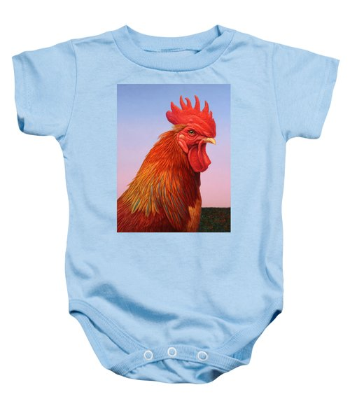 Big Red Rooster Baby Onesie