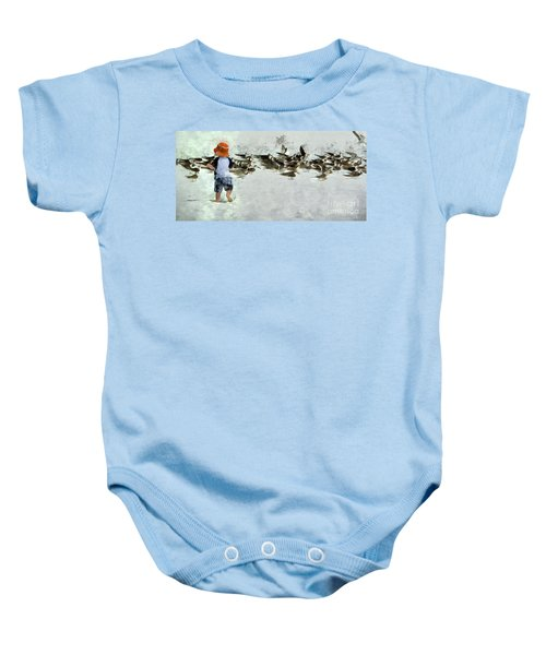Bird Play Baby Onesie