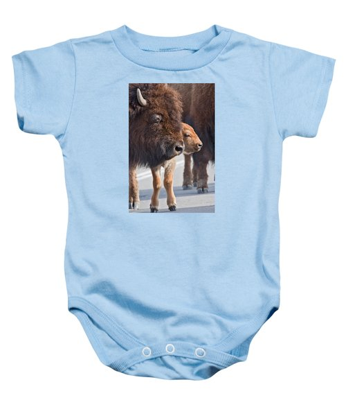 Bison And Calf Baby Onesie