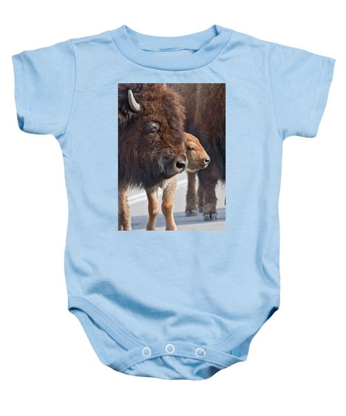 Bison Family Baby Onesie