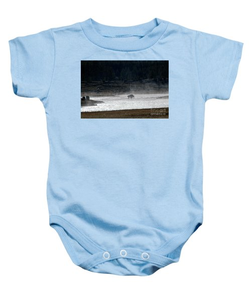 Bison In The River Baby Onesie