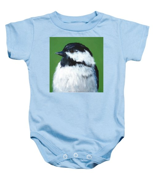 Black Capped Chickadee Baby Onesie