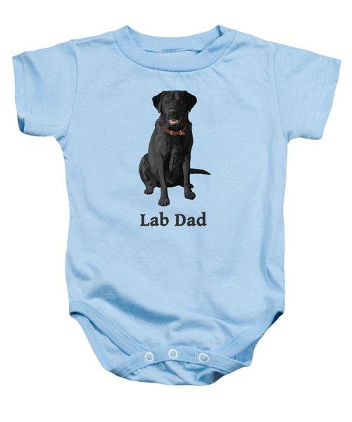Black Labrador Retriever Lab Dad Baby Onesie