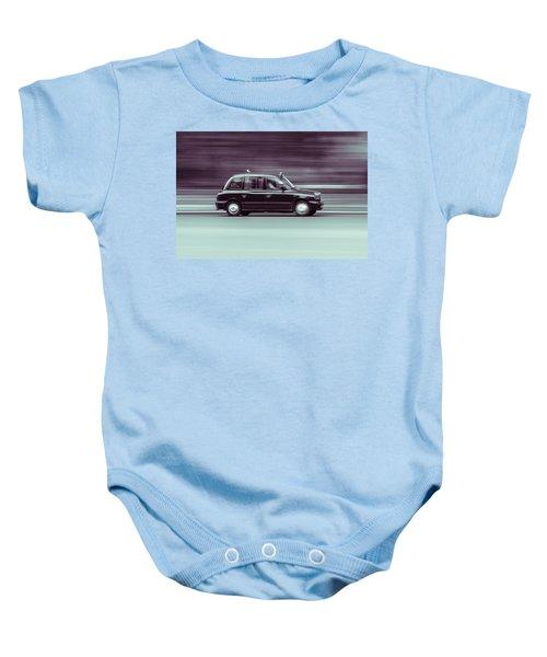 Black Taxi Bw Blur Baby Onesie