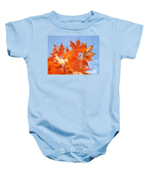 Blazing Maple Baby Onesie