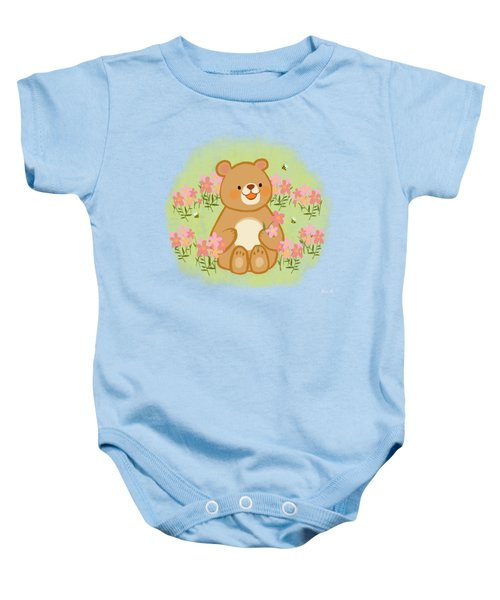 Blossoms Bees And A Bear Baby Onesie