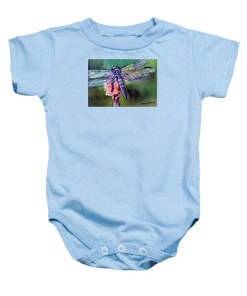 Blue And Green Dragonfly Baby Onesie