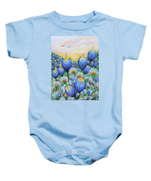 Blue Belles Baby Onesie
