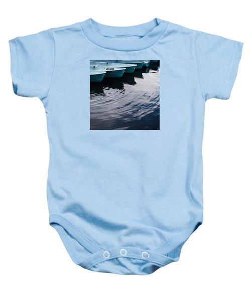 Blue Boat Baby Onesie
