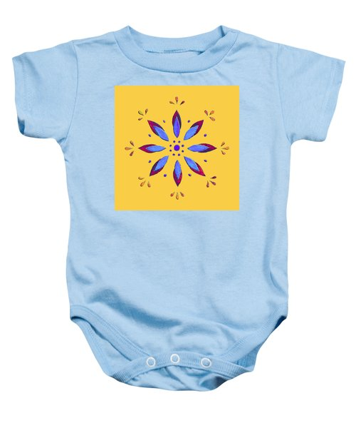 Blue Flower Baby Onesie