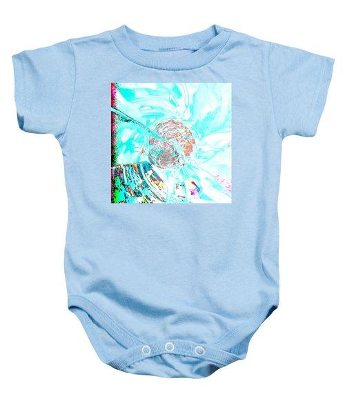 Blue Flower Baby Onesie