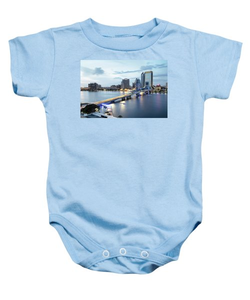 Blue Hour In Jacksonville Baby Onesie