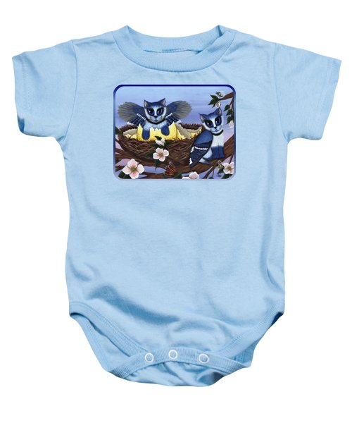 Blue Jay Kittens Baby Onesie