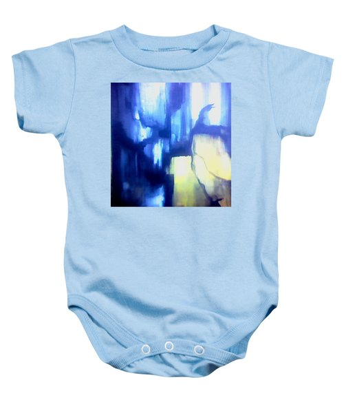 Blue Patterns Baby Onesie