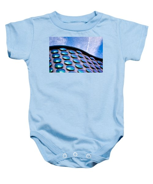 Blue Polka-dot Wave Baby Onesie