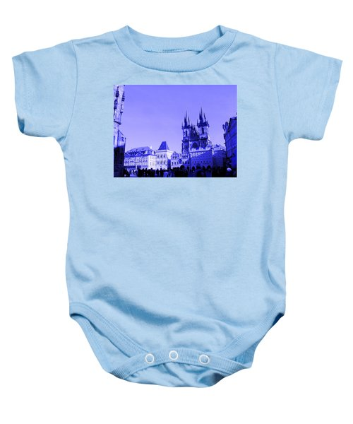 Blue Praha Baby Onesie