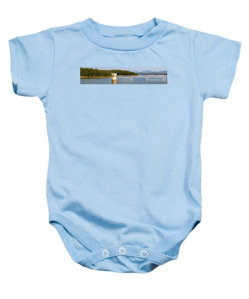 Blue Ridge Dam - Panoramic Baby Onesie