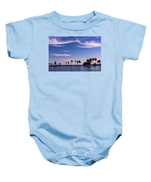 Blue Tropics Baby Onesie
