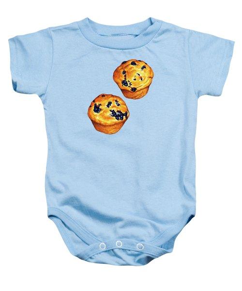 Blueberry Muffin Pattern Baby Onesie