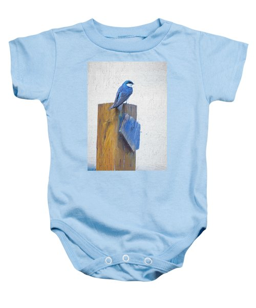 Baby Onesie featuring the photograph Bluebird by James BO Insogna