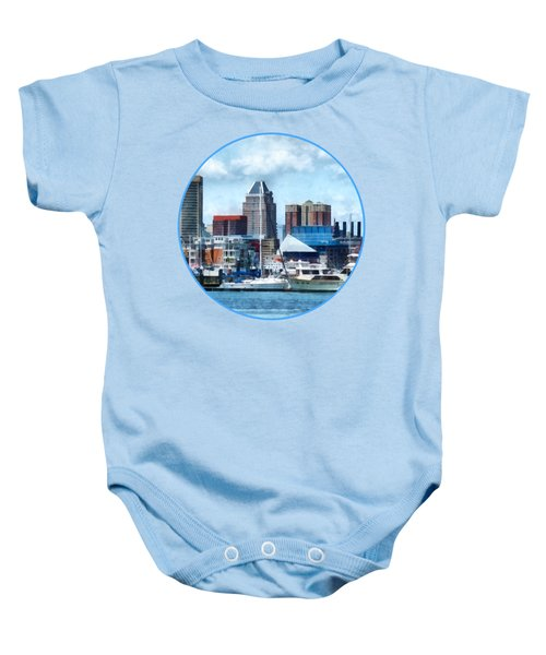 Boat - Baltimore Skyline And Harbor Baby Onesie