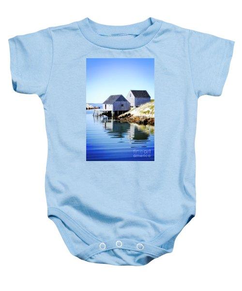Boat Houses Baby Onesie
