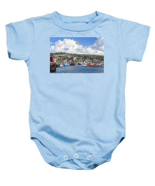Boats In Yaquina Bay Baby Onesie