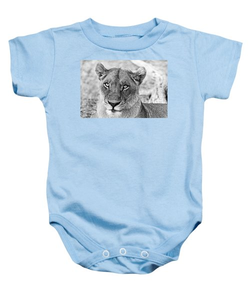 Botswana  Lioness In Black And White Baby Onesie