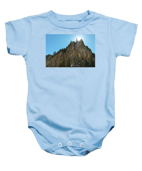 Baby Onesie featuring the photograph Boulder Canyon Narrows Pinnacle by James BO Insogna