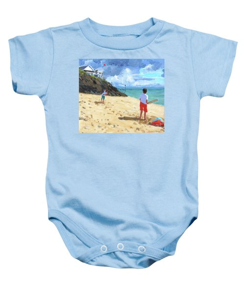Bowling And Batting, Abersoch Baby Onesie