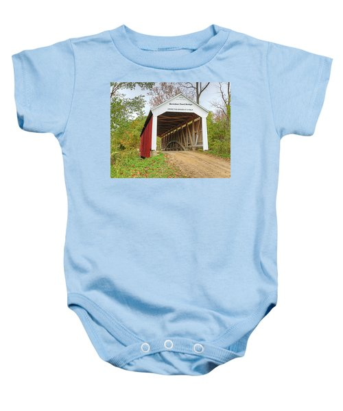 Bowser Ford Covered Bridge Baby Onesie