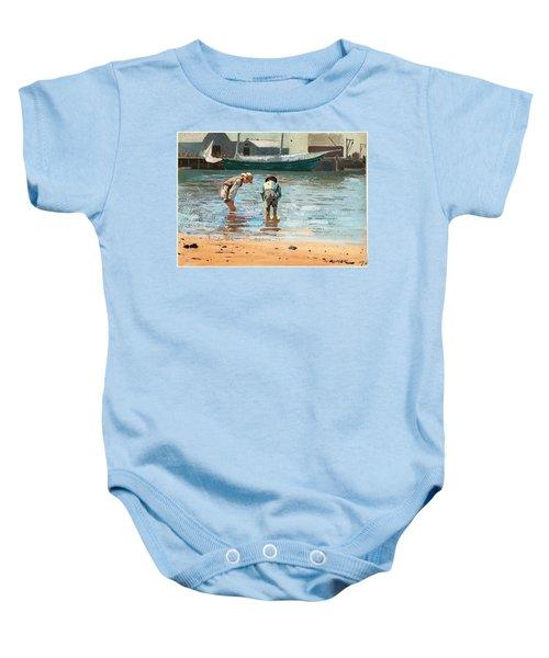 Boys Wading Baby Onesie