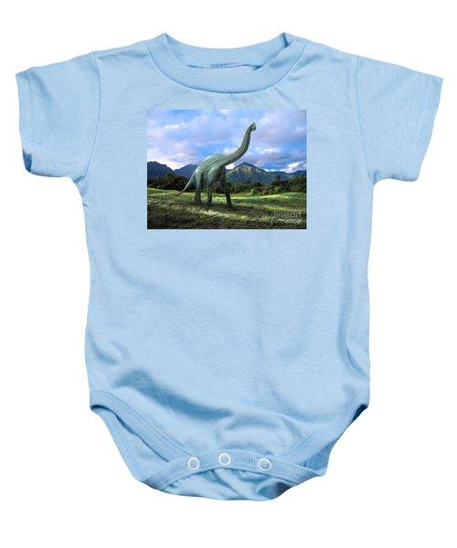 Brachiosaurus In Meadow Baby Onesie