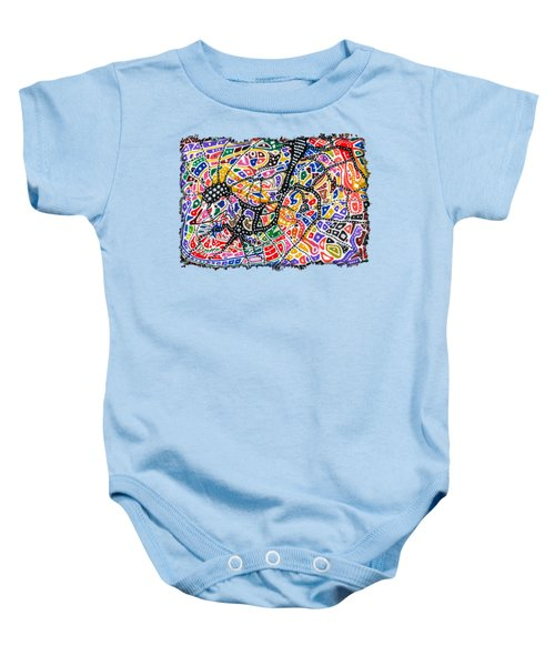 Brain Map Baby Onesie