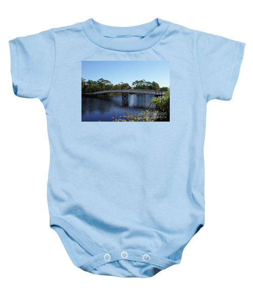 Western Lake Bridge Baby Onesie
