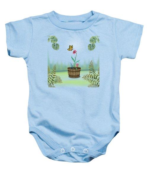 Bucket Butterfly 1 Baby Onesie