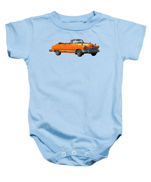 Buick Art In Orange Baby Onesie