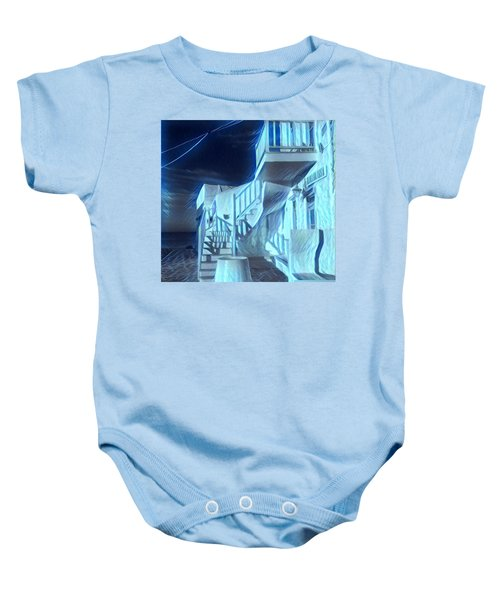 Building At Harbour  Baby Onesie